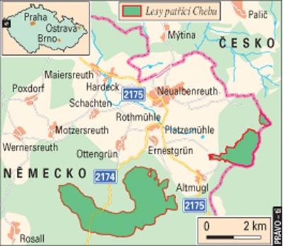 Historie chebských lesů v Bavorsku - obrázek č. 1 Lesy města Chebu v Bavorsku